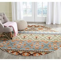 Safavieh Indoor/ Outdoor Veranda Green/ Terracotta Rug - 6'7 Round