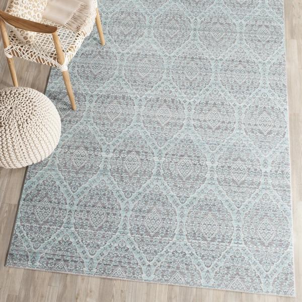 Safavieh Valencia Mauve/ Alpine Distressed Silky Polyester Rug (5' x 8')