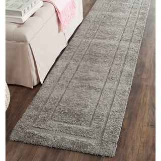 Safavieh Shadow Box Ultimate Grey Shag Rug (2'3 x 13')