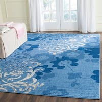 Safavieh Adirondack Vintage Damask Light Blue/ Dark Blue Rug - 9' x 12'