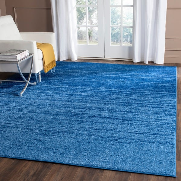 shop safavieh adirondack vintage ombre light blue dark blue rug 9