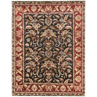 Ecarpetgallery Sultanabad Black Dark Red Wool Open Field Rug (7'11 x 10'4)