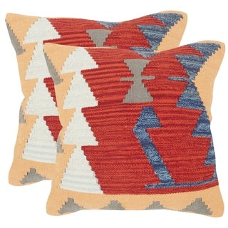 Safavieh Santa Fe Red Throw Pillows (20-inches x 20-inches) (Set of 2)