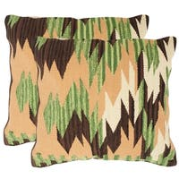 Safavieh Canyon Forest Neutral Throw Pillows (20-inches x 20-inches) (Set of 2)