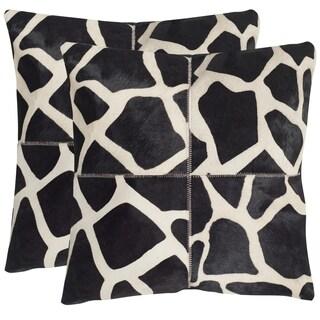 Safavieh Antonio Black / White Throw Pillows (22-inches x 22-inches) (Set of 2)
