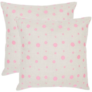 Safavieh Candy Buttons Pink Sugar Throw Pillows (20-inches x 20-inches) (Set of 2)