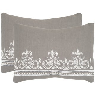 Safavieh Savoy Sterling Throw Pillows (12-inches x 20-inches) (Set of 2)