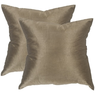 Safavieh Luster Olive Bronze Throw Pillows (20-inches x 20-inches) (Set of 2)