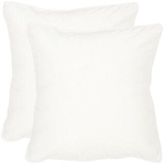 Safavieh Velvet Dream Snow White Throw Pillows (12-inches x 20-inches) (Set of 2)