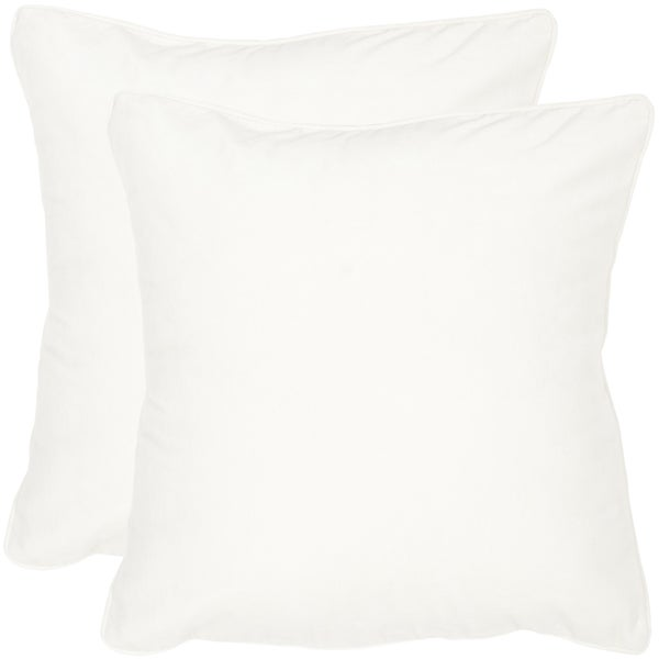Shop Safavieh Velvet Dream Snow White Throw Pillows 40inches X 40 Best Overstock Decorative Pillows