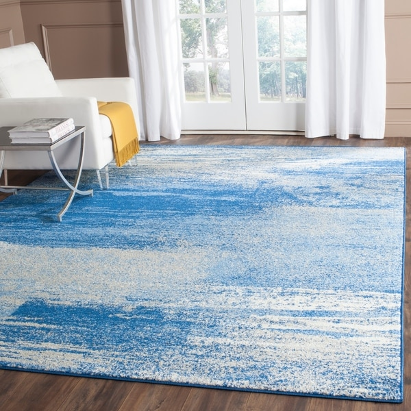 Safavieh Adirondack Modern Abstract Silver/ Blue Rug - 9' x 12'