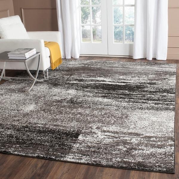 Safavieh Adirondack Modern Abstract Silver/ Black Rug - 9' x 12'