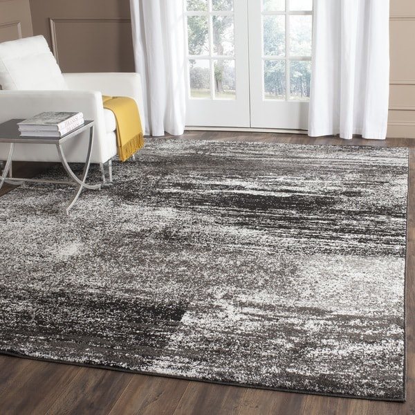 Safavieh Adirondack Modern Abstract Silver/ Black Rug - 9' x 12'