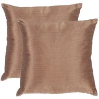 Safavieh Luster Champagne Throw Pillows (20-inches x 20-inches) (Set of 2)