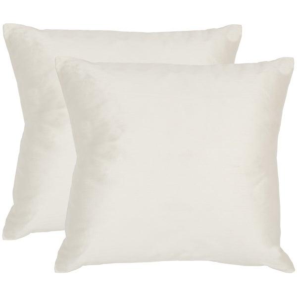 Shop Safavieh Luster Snow White Throw Pillows 20 Inches X