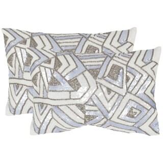 Safavieh Ricci Lilac Haze Throw Pillows (12-inches x 18-inches) (Set of 2)