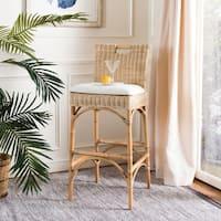 Safavieh 17.75 -inch Fremont Natural Woven Barstool