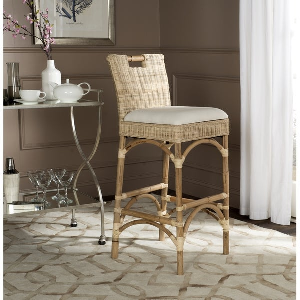 Safavieh Fremont Natural Woven Barstool Free Shipping