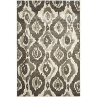 "Safavieh Porcello Abstract Ogee Ivory/ Dark Grey Rug - 6'7"" x 6'7"" square"