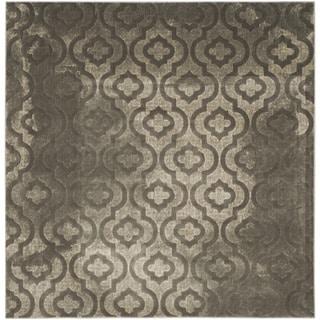 Safavieh Porcello Contemporary Moroccan Grey/ Dark Grey Rug (6'7 Square)