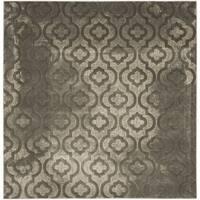 """Safavieh Porcello Contemporary Moroccan Grey/ Dark Grey Rug - 6'7"""" x 6'7"""" square"""