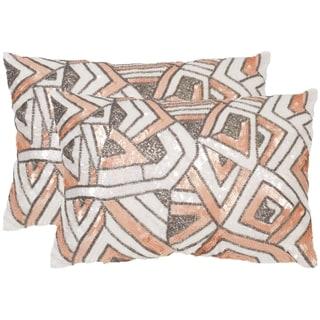Safavieh Ricci Organza Throw Pillows (12-inches x 18-inches) (Set of 2)