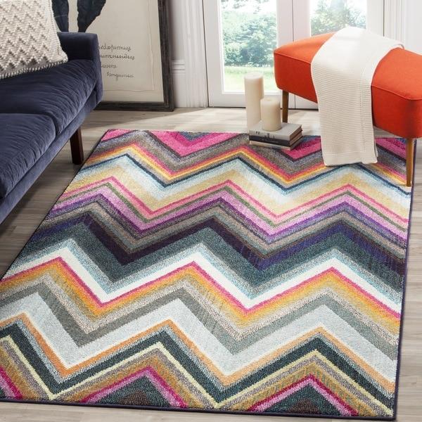 Safavieh Monaco Bohemian Chevron Multicolored Rug (6'7 Square)