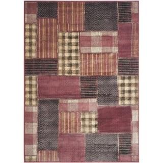 Safavieh Vintage Red/ Multi Patchwork Silky Viscose Rug (8' x 11'2)
