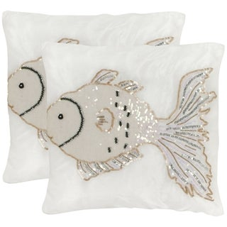 Safavieh Kissy Fish Pearlescent Throw Pillows (18-inches x 18-inches) (Set of 2)