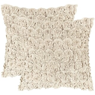 Safavieh Bouquet Champagne Petal Throw Pillows (20-inches x 20-inches) (Set of 2)|https://ak1.ostkcdn.com/images/products/10215058/P17337319.jpg?_ostk_perf_=percv&impolicy=medium