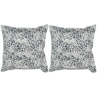 Safavieh Satin Leopard Midnight Throw Pillows (20-inches x 20-inches) (Set of 2)