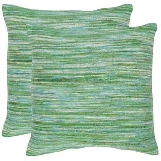 Safavieh Eloise Sea Green Throw Pillows (20-inches x 20-inches) (Set of 2)