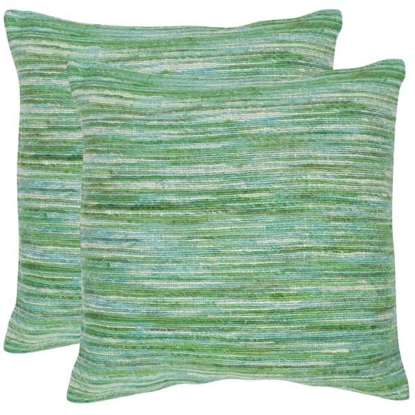 Safavieh Eloise Sea Green Throw Pillows 20 Inches X