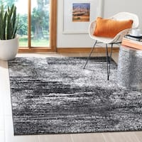 Safavieh Adirondack Modern Abstract Silver/ Black Rug - 5'1 x 7'6