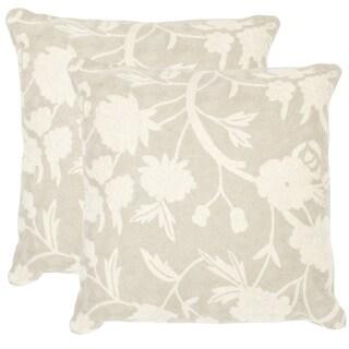 Safavieh Vannes Greige Throw Pillows (Set of 2)