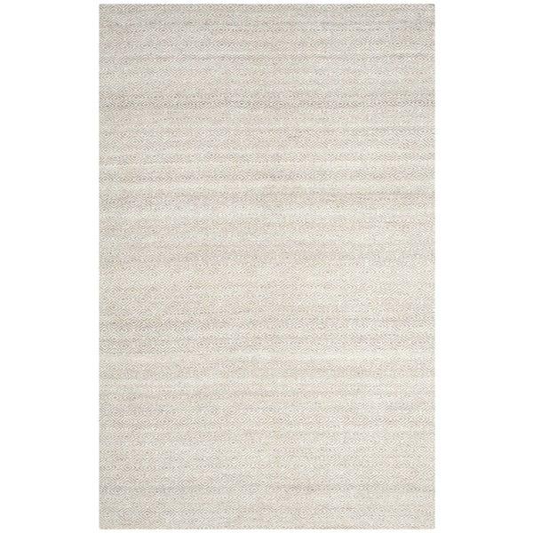 Safavieh Hand-Woven Kilim Ivory/ Silver Wool Rug - 5' x 8'