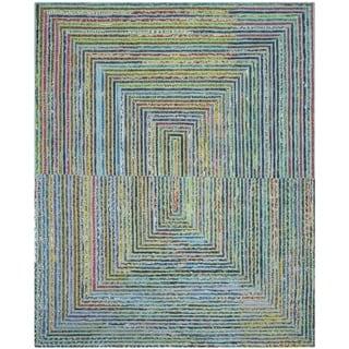 Safavieh Handmade Nantucket Bodhild Contemporary Cotton Rug (6 x 9 - Teal)