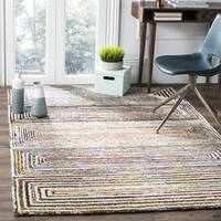 Safavieh Handmade Nantucket Modern Abstract Ivory Cotton Rug - 5' x 8'