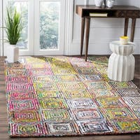 Safavieh Handmade Nantucket Modern Abstract Cream Cotton Rug - 5' x 8'
