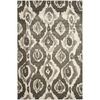 Safavieh Porcello Abstract Ogee Ivory/ Dark Grey Rug - 5'2 x 7'6