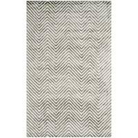 Safavieh Hand-Tufted Soho Ivory/ Grey N.Z. Wool Rug - 5' x 8'