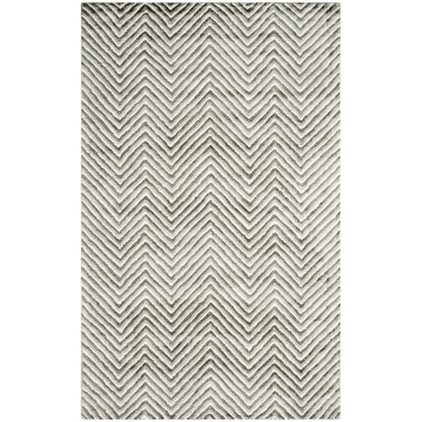 Safavieh Hand-Tufted Soho Ivory/ Grey N.Z. Wool Rug (5' x 8')