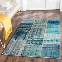 Safavieh Monaco Bohemian Patchwork Blue/ Multicolored Rug - BLue - 3' x 5'