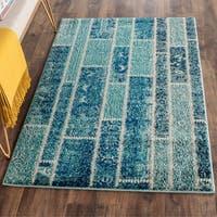 Safavieh Monaco Patchwork Blue/ Multicolored Rug - 3' x 5'