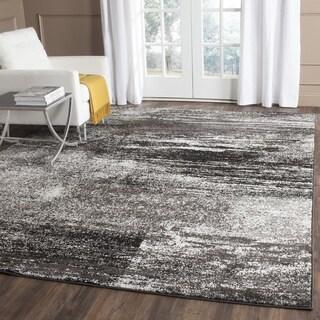 Safavieh Adirondack Modern Abstract Silver/ Black Rug (4' x 6')