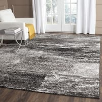 Safavieh Adirondack Modern Abstract Silver/ Black Rug - 4' x 6'