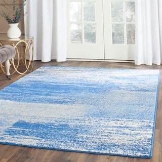 Safavieh Adirondack Modern Abstract Silver/ Blue Rug (4' x 6')