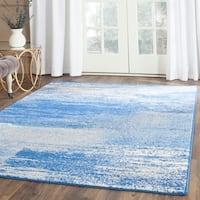 Safavieh Adirondack Modern Abstract Silver/ Blue Rug - 4' x 6'