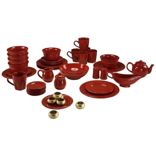 Vivo Red Beaded 45-piece Dinner Set