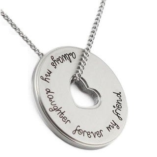 Stainless Steel 'Always My Daughter Forever My Friend' Necklace